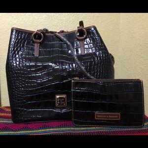 Dooney & Bourke Satchel Tote Croco Leather NWOT